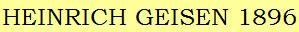часы Heinrich Geisen