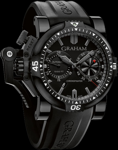 Graham Chronofighter Oversize Diver Deep Black