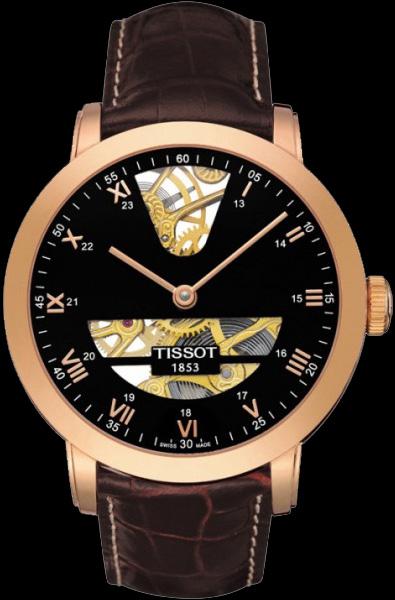 Tissot T-gold Sculpture Line Skeleton