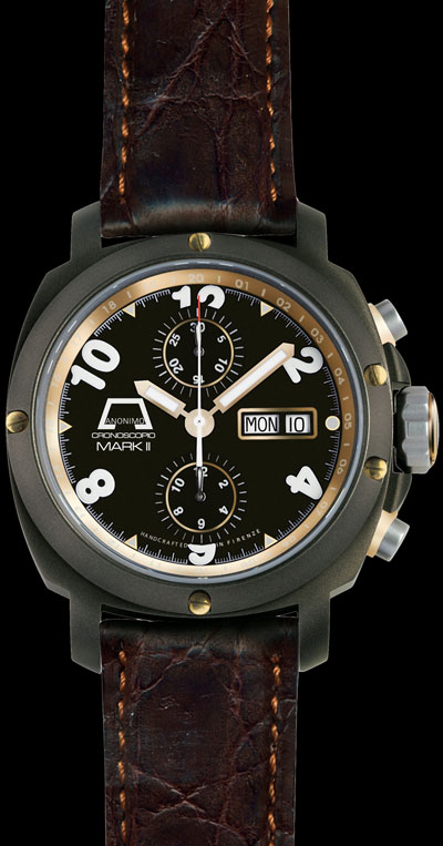 Anonimo Firenze Cronoscopio Mark II Drass Gold