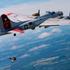 Новый полет Ив Jetman Росси с авиационной флотилией Breitling