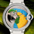 SIHH 2014: изумительные часы Ballon Bleu de Cartier Floral-Marquetry Parrot от Cartier