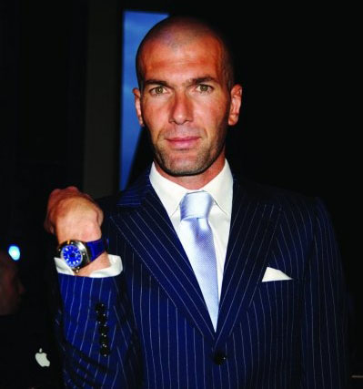 Зинедин Зидан с часами WC Ingenieur Automatic Edition Zinédine Zidane