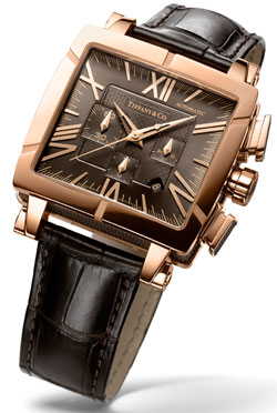 Часы TIFFANY & Co Atlas Gent Square Chronograph