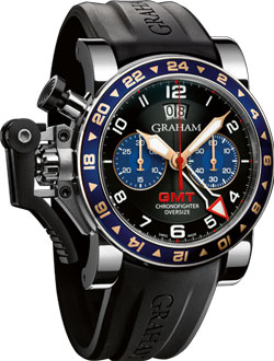 часы Chronofighter Oversize GMT Steel