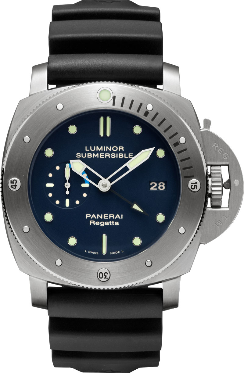 хронограф Luminor Submersible 1950 Regatta 3 days GMT Automatic Titanio