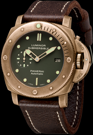 часы Officine Panerai Luminor Submersible 1950 3 Days Automatic Bronzo 47 mm