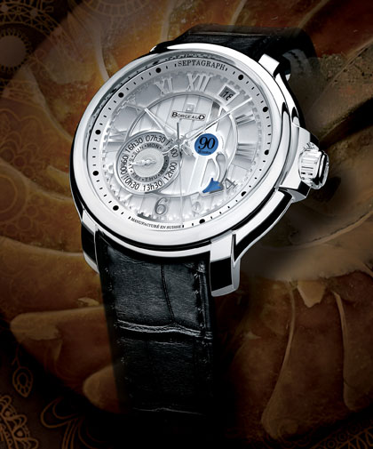 The Septagraph, white dial