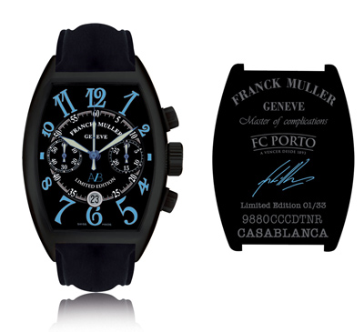 The André Villas-Boas Limited Edition, based on a black Casablanca Chronograph