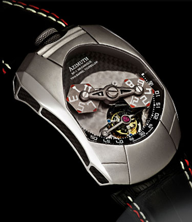 часы Azimuth Twin Barrel Tourbillon