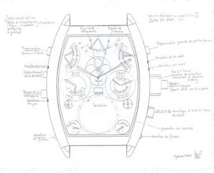 схематическое изображение часов Franck Muller