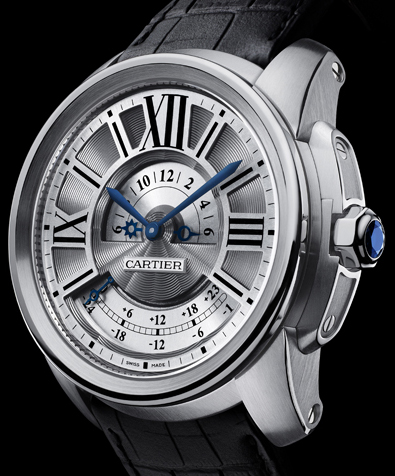 модель Calibre de Cartier Multiple Time Zone