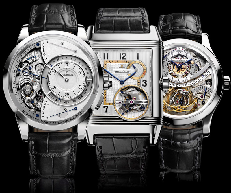часы Hybris Mechanica Grande Sonnerie, Reverso Tryptique Hybris Mechanica и Gyrotourbillon Hybris Mechanica