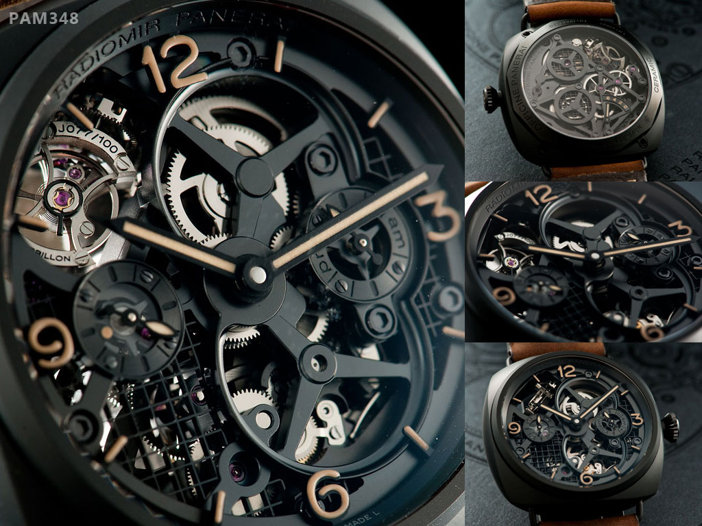 часы Radiomir Tourbillon GMT Ceramica (PAM 00348)