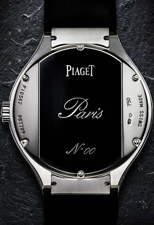 задняя сторона часов Piaget Polo Tourbillon Relatif Paris (Ref. G0A33044)