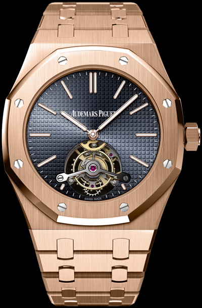 часы Openworked Extra-Thin Royal Oak Tourbillon 40th Anniversary Limited Edition