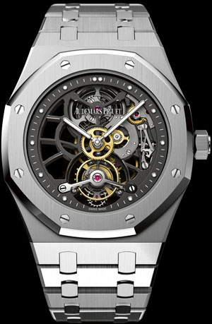 часы Audemars Piguet Royal Oak Openworked Tourbillon 40th Anniversary (ref. 26511PT.OO.1220PT.01)