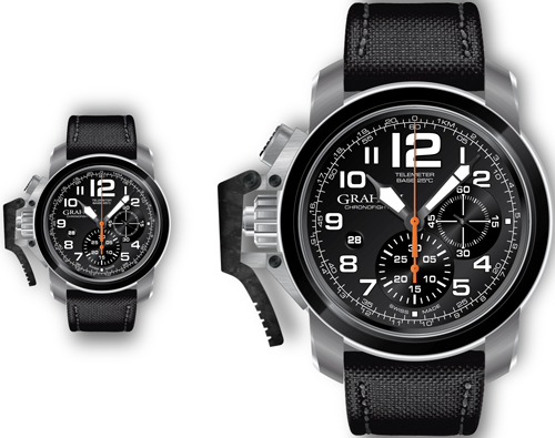 часы Chronofighter Oversize Black Sahara (Ref. 2CCAC.B03A)