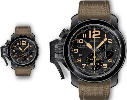 часы Chronofighter Oversize Black Sahara (Ref. 2CCAU.B02A)