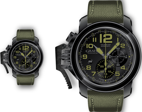 часы Chronofighter Oversize Black Sahara (Ref. 2CCAU.G01A)