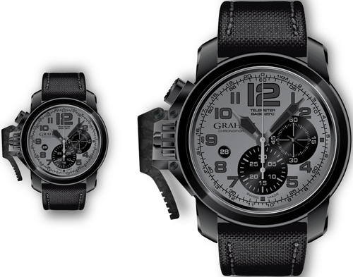 часы Chronofighter Oversize Black Sahara (Ref. 2CCAU.S01A)