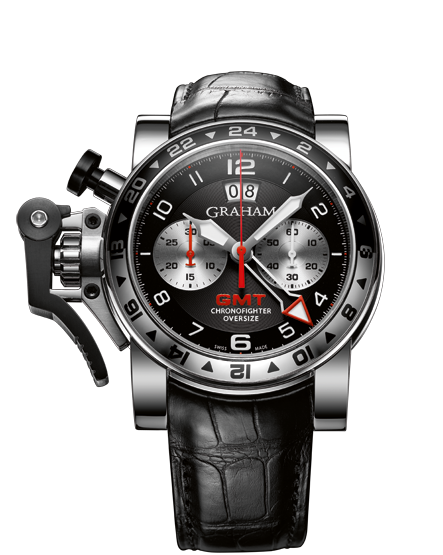 хронограф Chronofighter Oversize GMT Black Steel от Graham