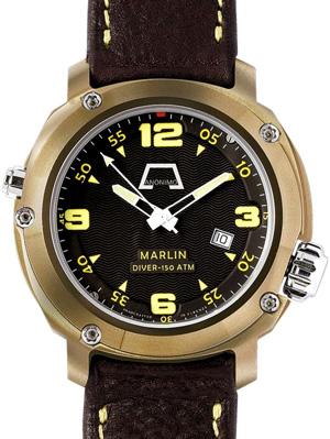часы Anonimo Marlin Bronze с люминесцентными стрелками