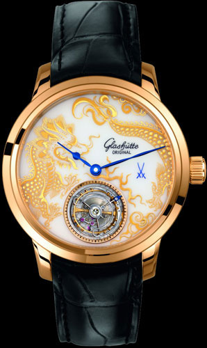 часы Glashütte Original Senator Meissen Tourbillon Dragon (Ref. 94-13-02-01-04)