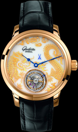 часы Glashütte Original Senator Meissen Tourbillon Dragon (Ref. 94-13-03-01-04)