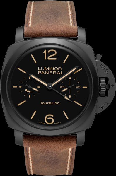 часы Panerai Luminor 1950 Tourbillon GMT Ceramica (PAM 00396)