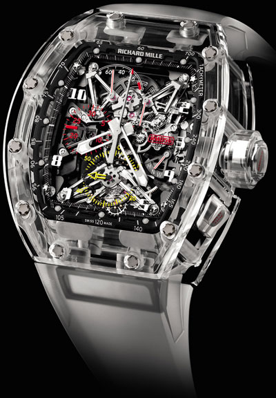 часы Richard Mille Tourbillon Split Seconds Competition Chronograph RM 056 Felipe Massa Sapphire