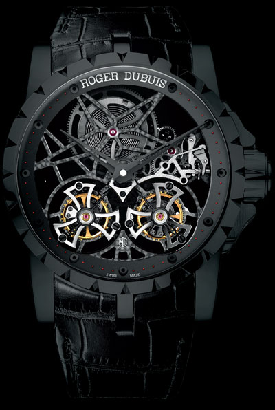 часы Excalibur Skeleton Double Flying Tourbillon