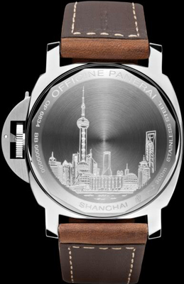 задняя сторона часов Panerai Luminor Marina Boutique Edition Shanghai PAM 420