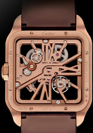 ������ ������� ����� Santos-Dumont Skeleton Red Gold (Ref. 2020057)