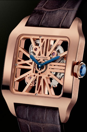 часы Santos-Dumont Skeleton Red Gold (Ref. 2020057)