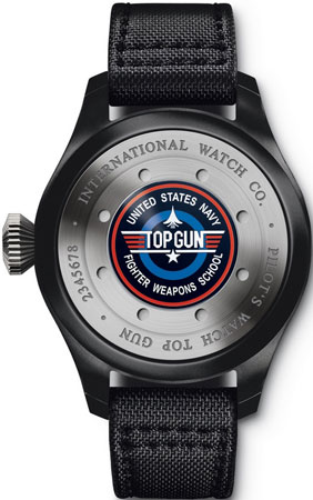 задняя сторона часов Big Pilot's Watch Perpetual Calendar Top Gun