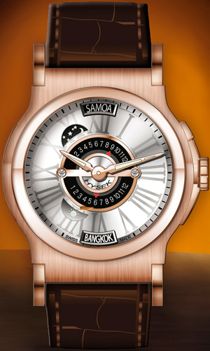 Часы VerdicT 46mm Triple Time Zone