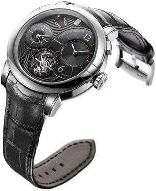модель HW Midnight Tourbillon GMT