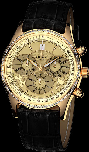 79dbee5a68ab Мужские часы Nika Prime Time с бриллиантами серии «Георгин»