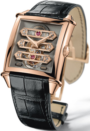 часы Vintage 1945 Tourbillon With Three Gold Bridge Rose Gold