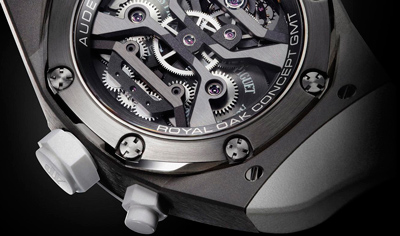 задняя сторона часов Audemars Piguet Royal Oak GMT Tourbillon
