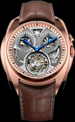 Часы Tourbillon Monopusher Chronograph от AkriviA