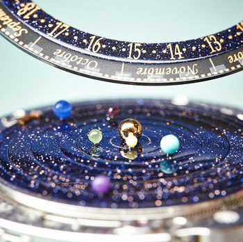 циферблат часов Van Cleef and Arpels Midnight Planétarium Poetic Complication