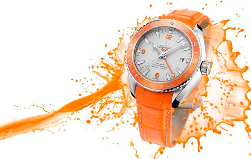 Часы Omega Seamaster Planet Ocean Orange Ceramic
