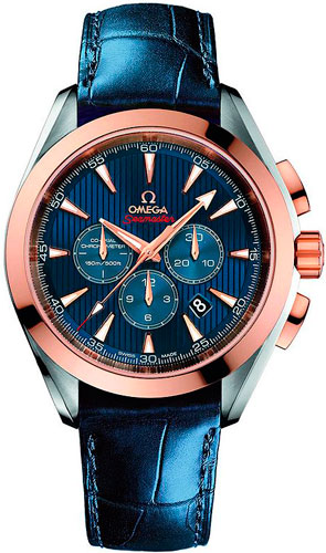 мужские часы Omega Seamaster Aqua Terra Co-Axial Chronograph London 2012