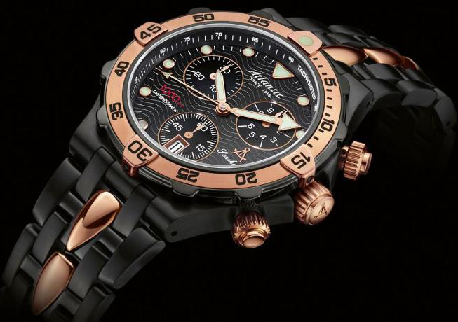 часы Atlantic Blackshark Chronograph