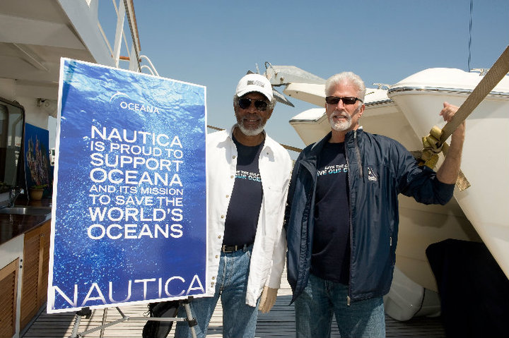 Morgan Freeman и Ted Danson на Oceana Gulf of Mexico Research Expedition