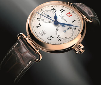Часы-юбиляры, 180 лет в обед: Longines Column-Wheel Single Push-Piece Chronograph 180th Anniversary Limited Edition.