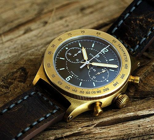 Хронограф Marine Officer Bronze Chronograph от Steinhart