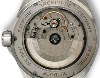 задняя сторона часов Archimede Outdour Automatic Luminous Dial